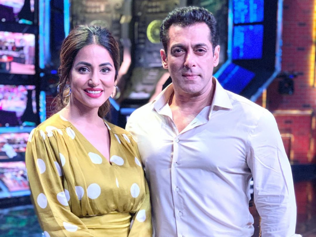 Bigg Boss 13: Hina Khan shares pictures with Salman Khan as she continues  her 'little tradition' at the 'Bigg Boss' house