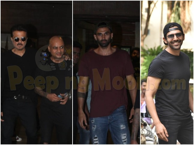 Aditya Roy Kapur And Anil Kapoor Visit Hairstylist Aalim Hakim For Malang Look Discussion Kartik Aaryan Meets Aanand L Rai