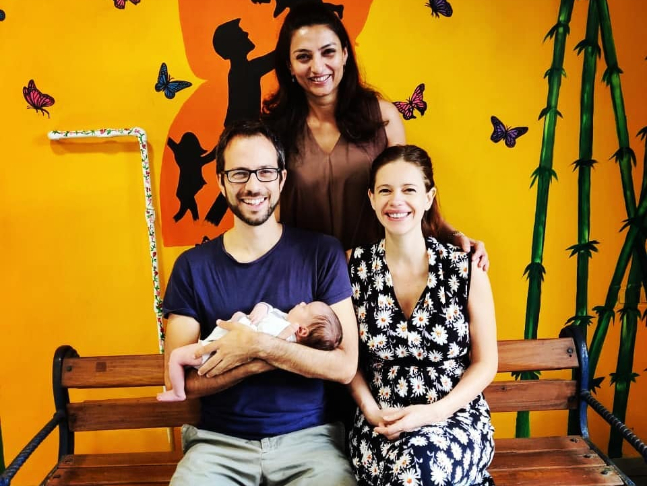 Kalki Koechlin shares first pictures of baby daughter Sappho with boyfriend  Guy Hershberg, expresses gratitude to her medical team in a heartfelt post
