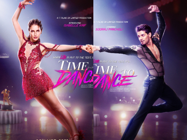 Time To Dance first look: Isabelle Kaif and Sooraj Pancholi take to the  dance floor in new posters; film to hit theatres on March 12, 2021