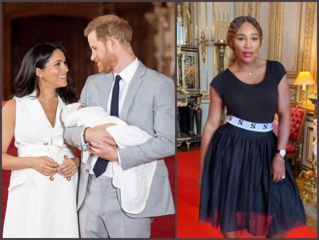 serena williams pays visit to meghan markle is she going to be royal baby archie harrison mountbatten windsor s godmother royal baby archie harrison mountbatten