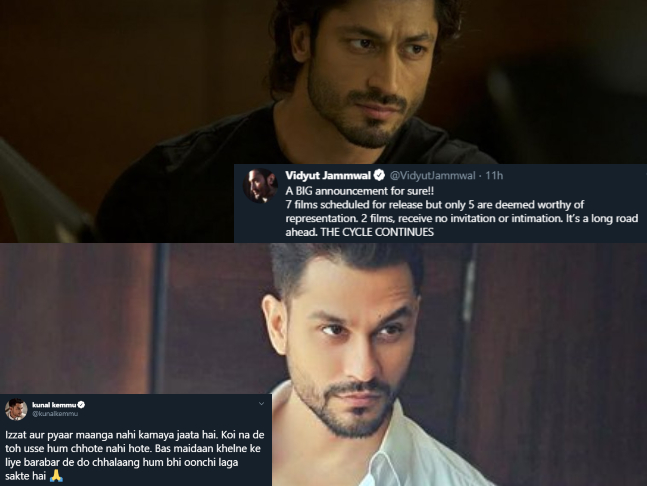 Vidyut Jammwal and Kunal Kemmu call out Bollywood for leaving their films 'Khuda  Haafiz' and 'Lootcase' from the actors' panel, demand 'equal playing field'