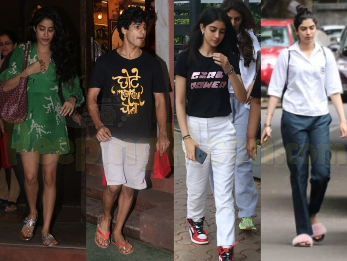 Janhvi-Ishaan spotted at a jewellery store
