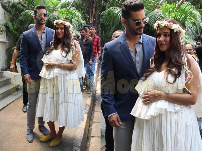 Neha Dhupia Beams With Joy As She Poses With Hubby Angad Bedi At Her