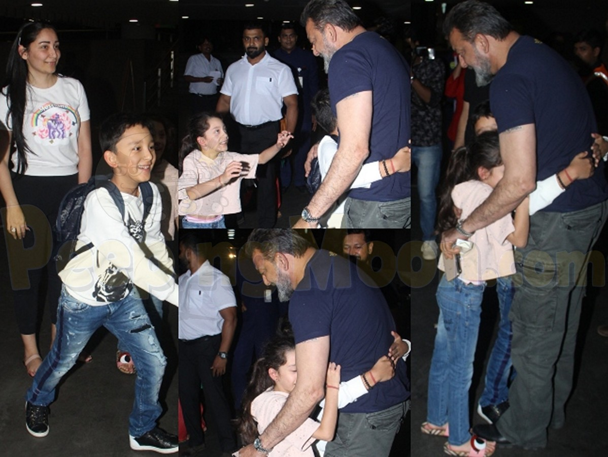 These pictures of Sanjay Dutt hugging his kids Shahraan and