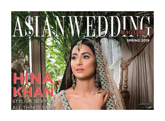 Hina Khan Looks Dreamy On The Cover Of Asian Wedding Magazine