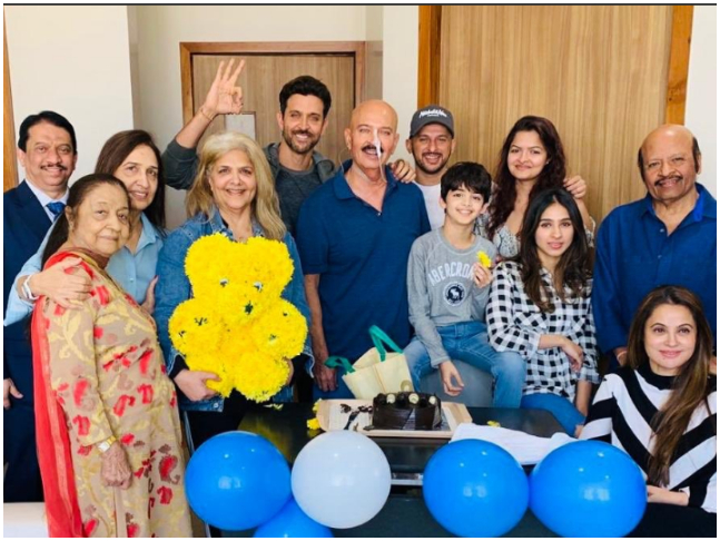 Hrithik Roshan Gets The Best Birthday Gift Ever As Rakesh Is Up And About After Surgery For Throat Cancer