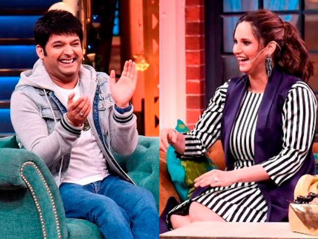 Watch: Kapil Sharma blushes as Sania Mirza asks when he is