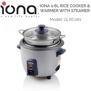 Picture of Iona GLRC061 Rice Cooker & Warmer With Steamer