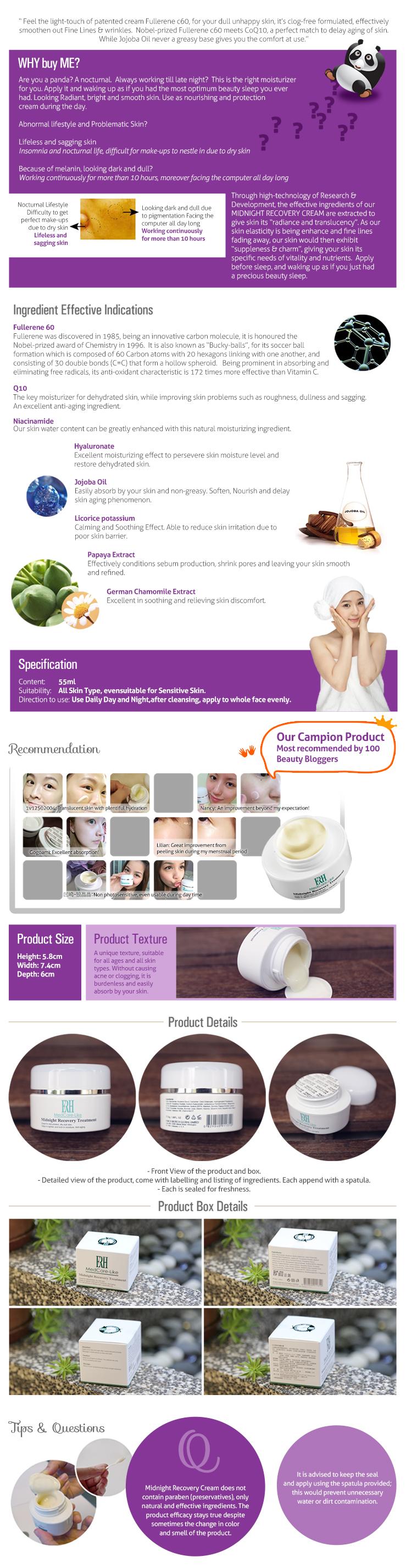 ERH Midnight Recovery Cream 55ML