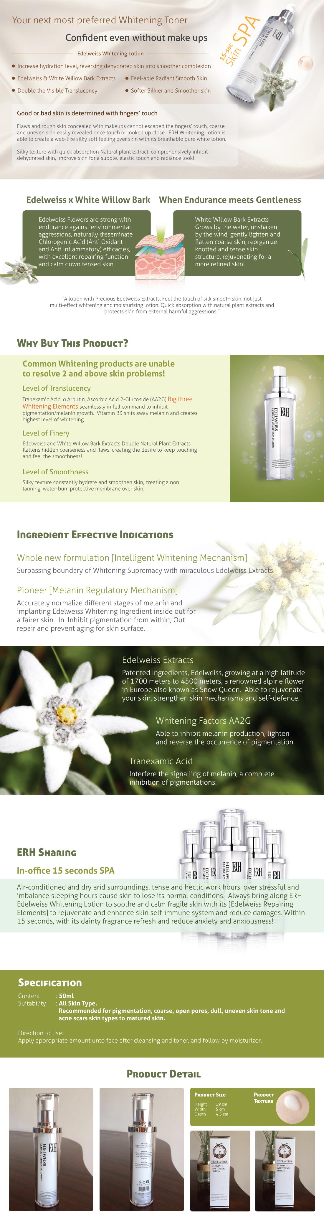 ERH Edelweiss Ultimate Whitening Lotion 50ML