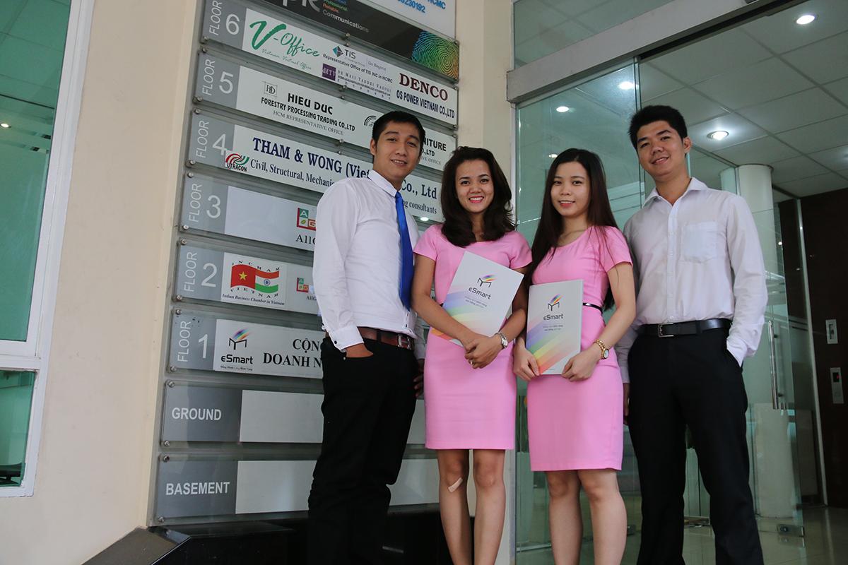 đội ngũ nhân viên tại Văn Phòng Ảo Quận 1