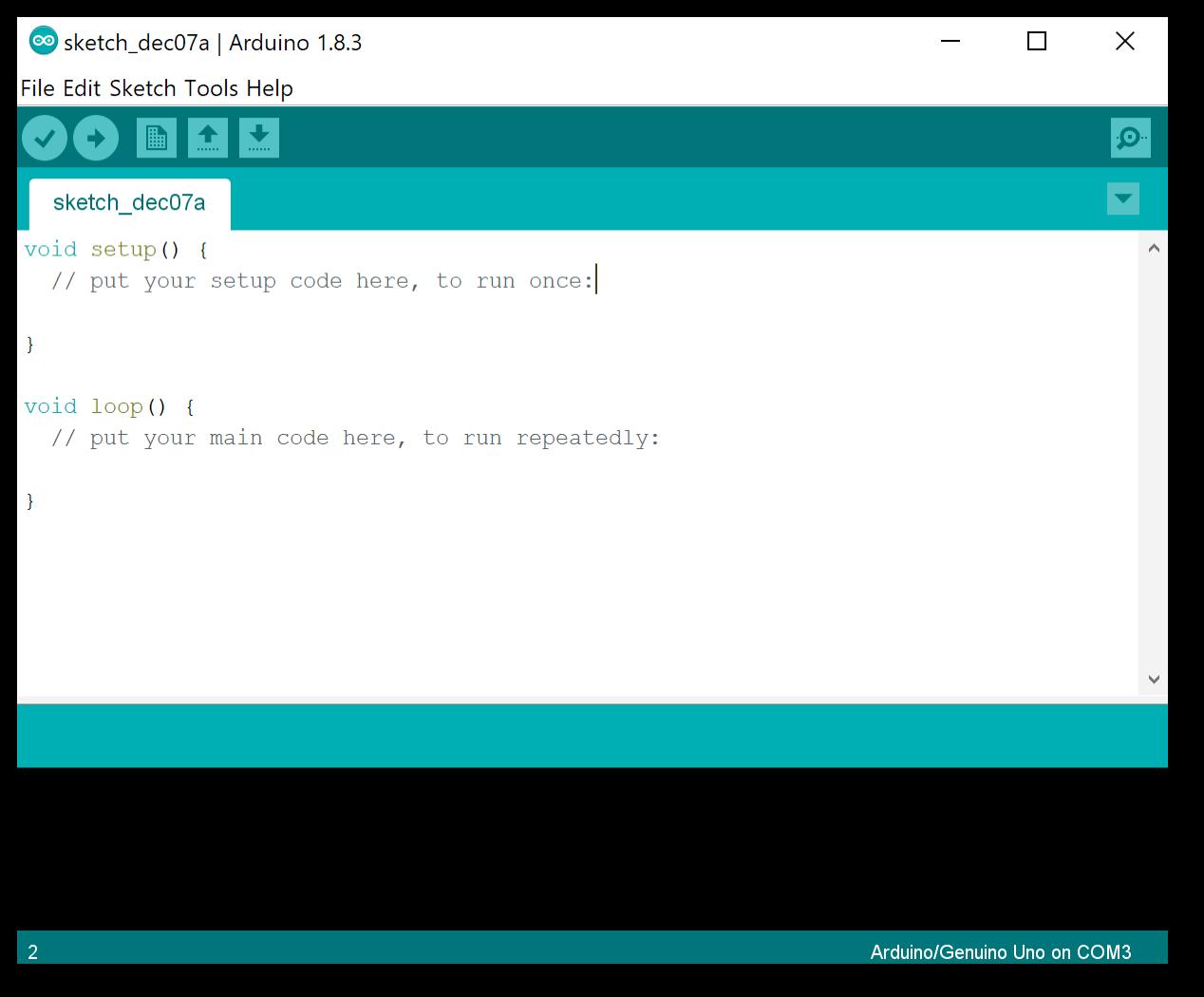 Giao diện chính Arduino IDE