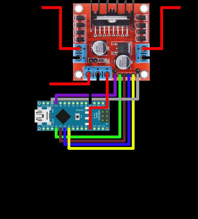 Sơ đồ kết nối Arduino và L298