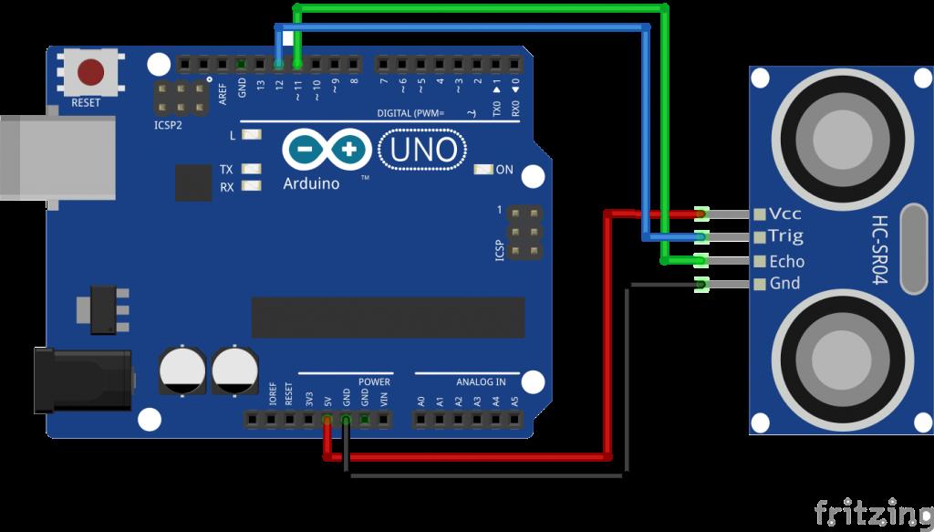 Kết nối srf05 và arduino