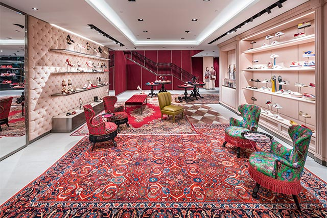 eb6bec268d24 Just like Alessandro Michele's designs for Gucci, the interior is a mash of  prints, bright colours and curious objects. The moment you step in through  the ...