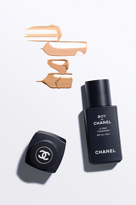 1e11638b1114 Keeping with the minimalist design of Bleu de Chanel, all the products  boast the iconic midnight blue packaging and the classic Chanel font in  white.