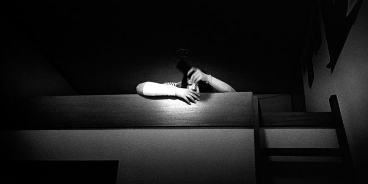 Photo Essay Kosuke Okahara Talks About Pain And Selfharm In Ibasyo Kaori Sitting On A Loft Bed She Had Bandaged Her Arm After Cutting Herself