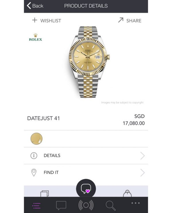 The easy-to-use, friendly format of the Inspify app allows you to find all information you need about the luxury product you're coveting