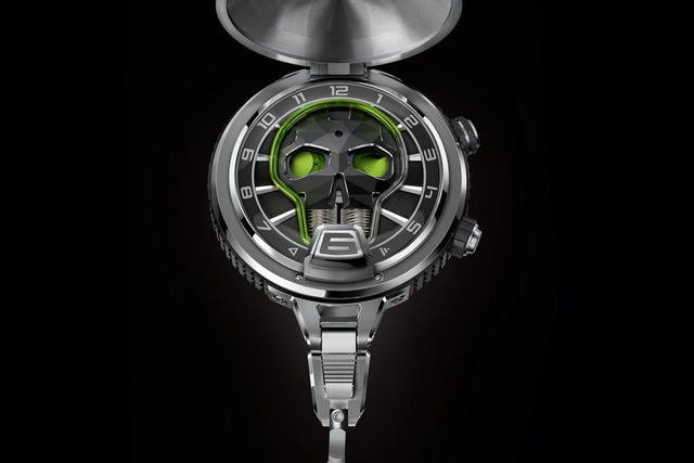 Hyt unexpectedly released its signature liquid time-telling display within a pocket watch