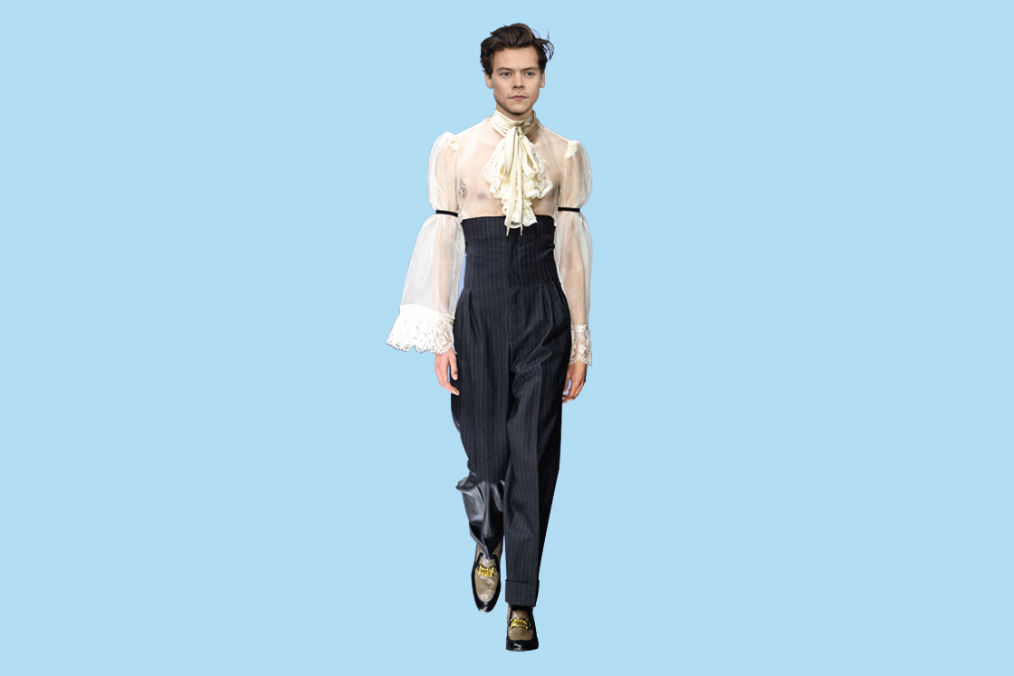 388e6ff2cd8  Harry Styles in Gucci autumn winter 2019  Styles has been the de facto  face of Gucci for many years now. The millennial s answer to Mick Jagger is  already ...