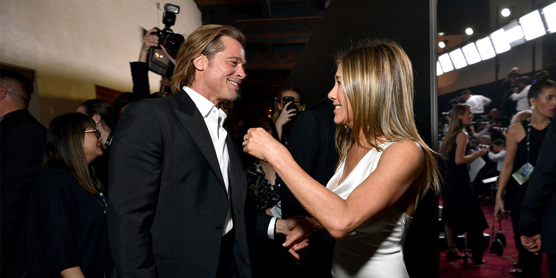 Brad Pitt and Jennifer Aniston SAG Awards Reunion best memes and reactions