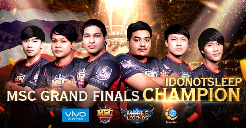 MSC Winner : 2017 Mobile Legends Grand Champion in Southeast Asia