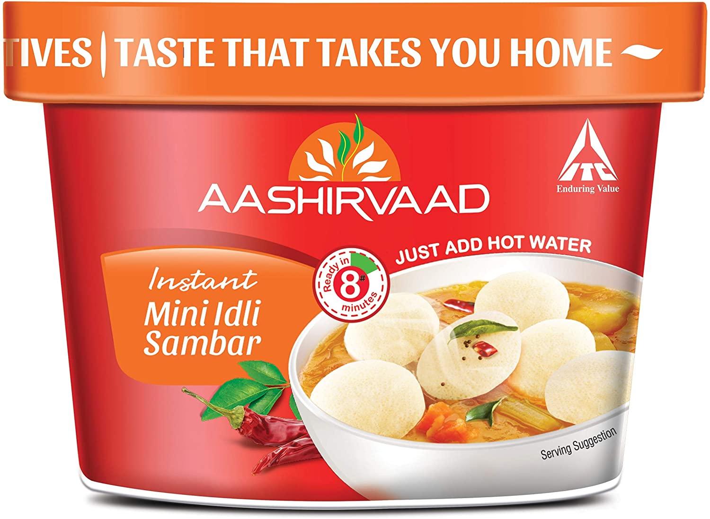 Instant Meals Mini Idli Sambar Cup 75g, Ready to Eat Indian Breakfast
