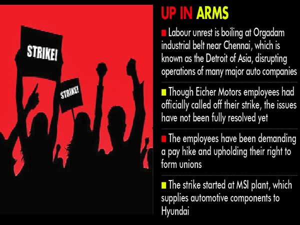 Chennai Motown rocked by Labour unrest