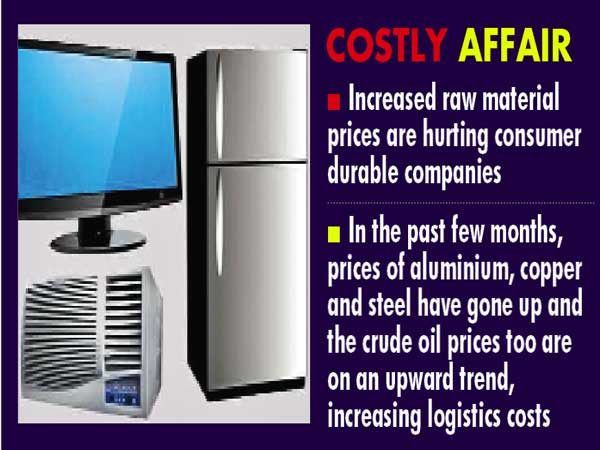 Consumer durables to be dearer by June-July