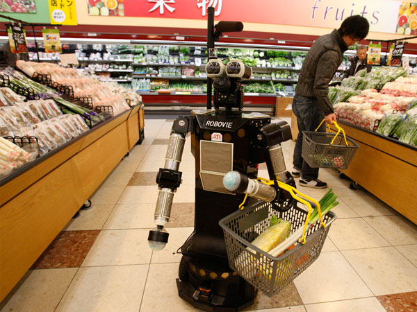 How Many Robots Does it Take to Fill a Grocery Order?