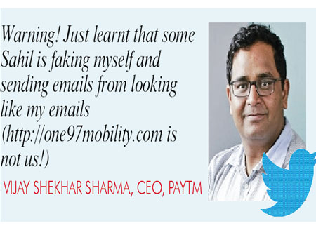 Paytm chief alleges misuse of name, identity to raise money