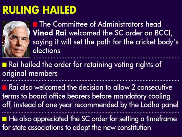 Supreme Court okays BCCI draft charter with changes