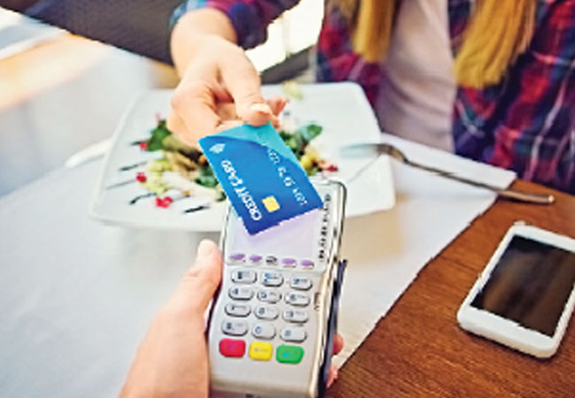 Purchases via credit cards higher than debit cards during festive days