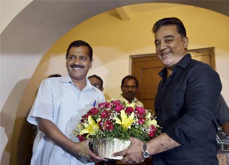 In Kejriwal, Kamal Haasan meet, hints of a new alliance