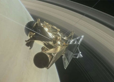 Cassini to plunge into Saturn today
