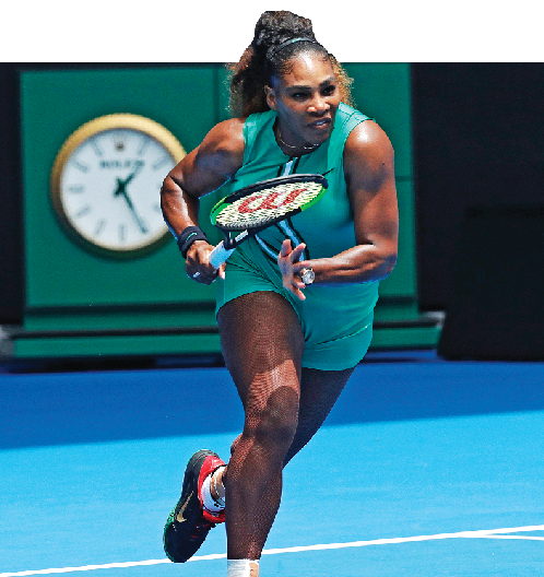 Serena-tard debuts at Australian Open, makes sure baby's first doll 'Qai Qai' is black