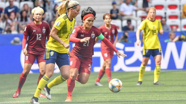 สวีเดน 5-1 ทีมชาติไทย