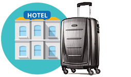 Amex hotel luggage icon