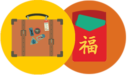 Luggage voucher icon