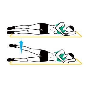 Side Leg Lift | 50 Reps