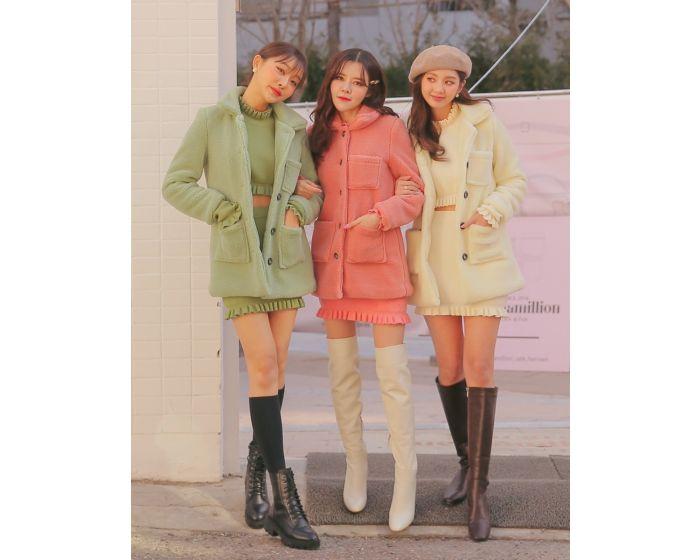 FT414 Chuugar Fuax Mink Coat