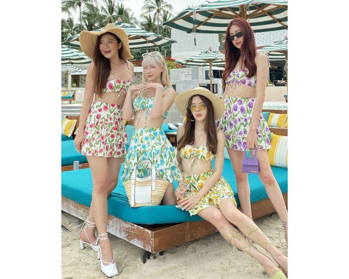 FT665 Girly Berry Mini- Cropped & Skirt Set