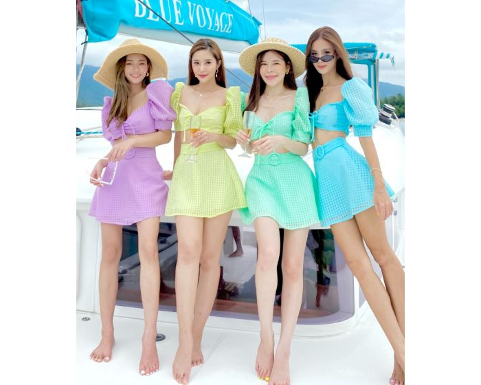 FT666 Sailor Unicorn Blouse & Skirt Set