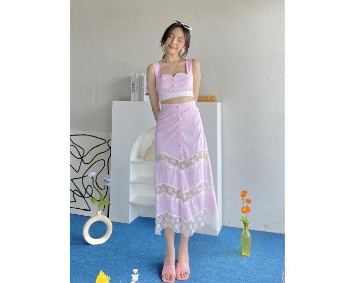 FF0077 - Monaco Blouse & Skirt Set
