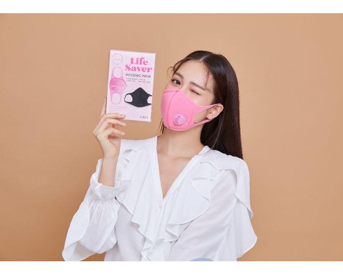 LS05 - Hygienic mask color(black/pink) 3 box