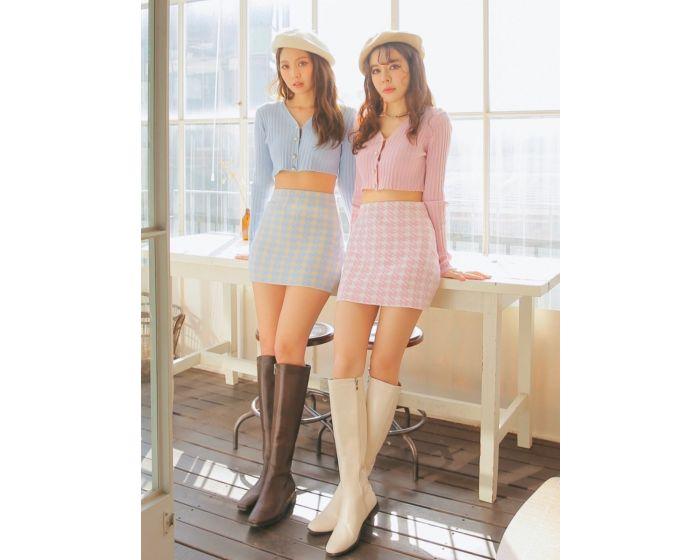 FT442 JennieRuby Knitted Cardigan & Skirt Set