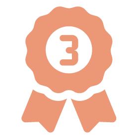 排行榜第3名徽章圖