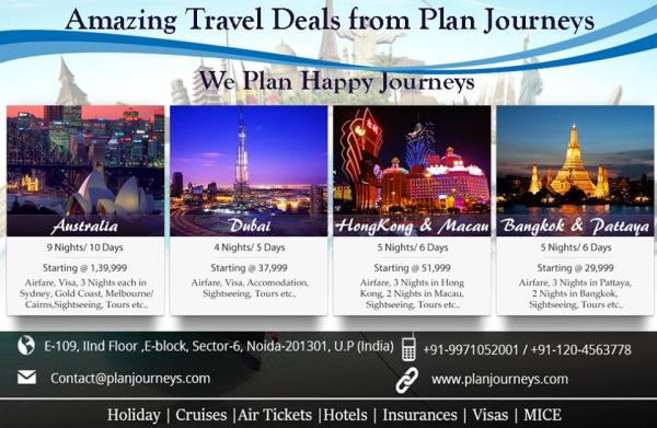 http://www.planjourneys.com Get in touch with us for best deals on International and domestic holiday packages, Our honeymoon expert team will make sure that you will have the best time during your romantic holidays with us.  Book now and g - by Plan Journeys Pvt Ltd, Noida