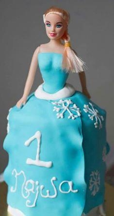 froen elsa cake for the little barbie who turns 1 - by THE BAKERS DELIGHT, Kolkata